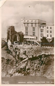 Imperial Hotel Tenby Sea - Tuckdb Postcards