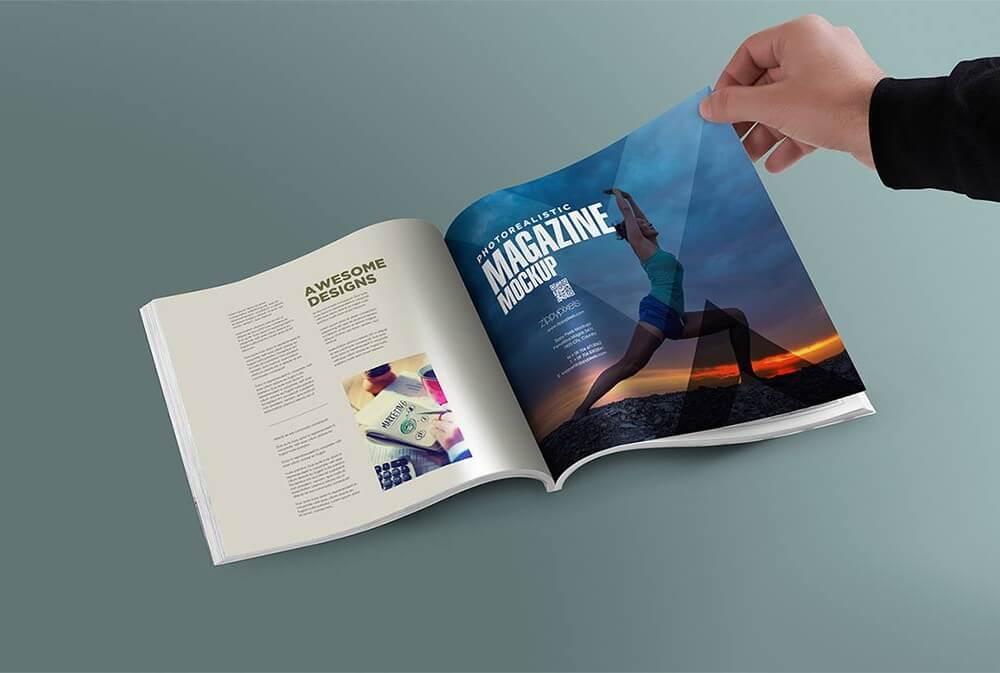 27 Mockups PSDs Gratuits De Livres Magazines Et Carnets