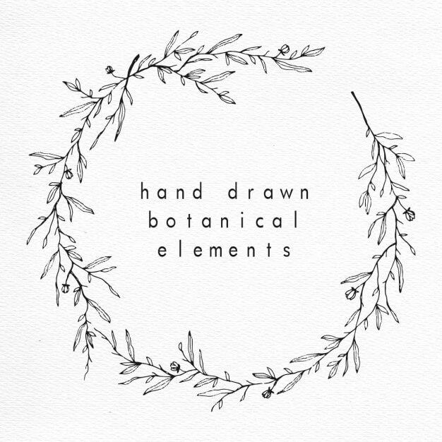 Style floral : +70 éléments à télécharger (couronnes