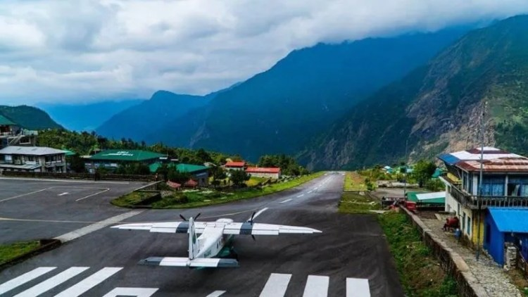 Tenzing-Hillary Airport, located in Lukla, Nepal, is often chosen by visitors as the starting point for their trekking to Mount Everest.  This airport is included in this list due to its location and short runway.  Pilots have to face a lot of challenge in taking off and landing at this airport.
