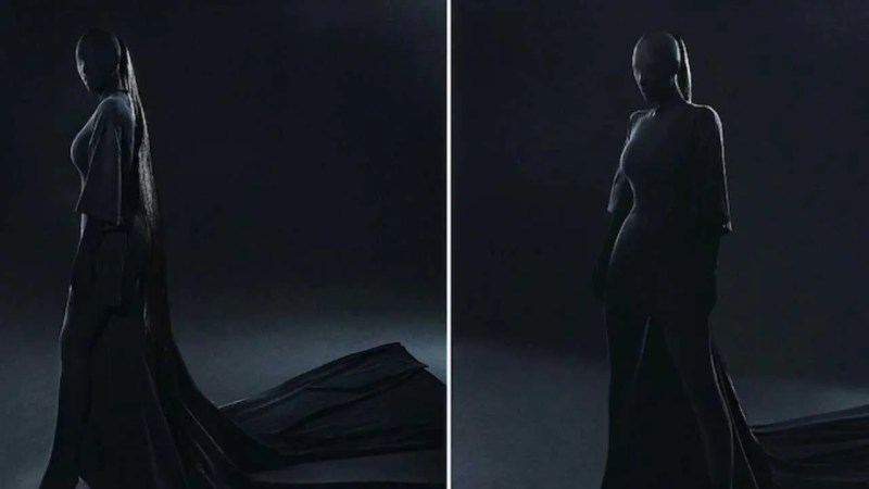 फैशन शो में किम कार्दशियन ने पहनी भूत जैसी ड्रेस, सोशल मीडिया पर आई मजेदार मीम्स की बाढ़
