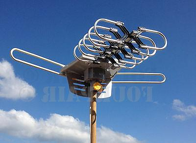 HDTV Outdoor Amplified Antenna HD TV 36dB Rotor