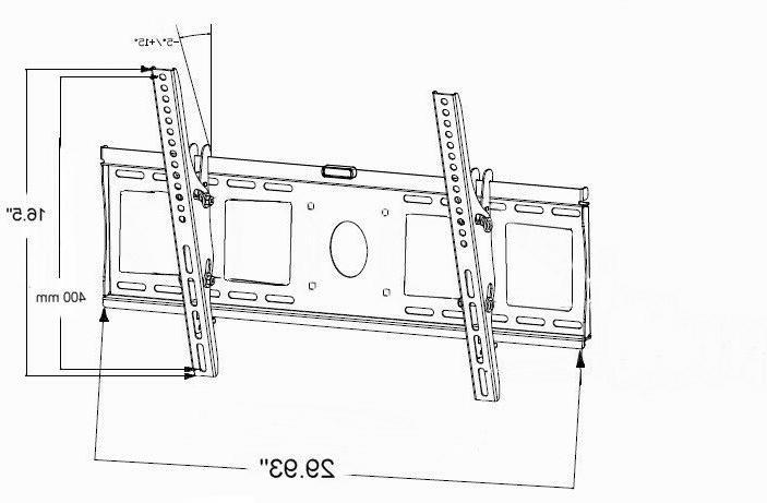 Professional Tilt LED TV Mount for Samsung Vizio