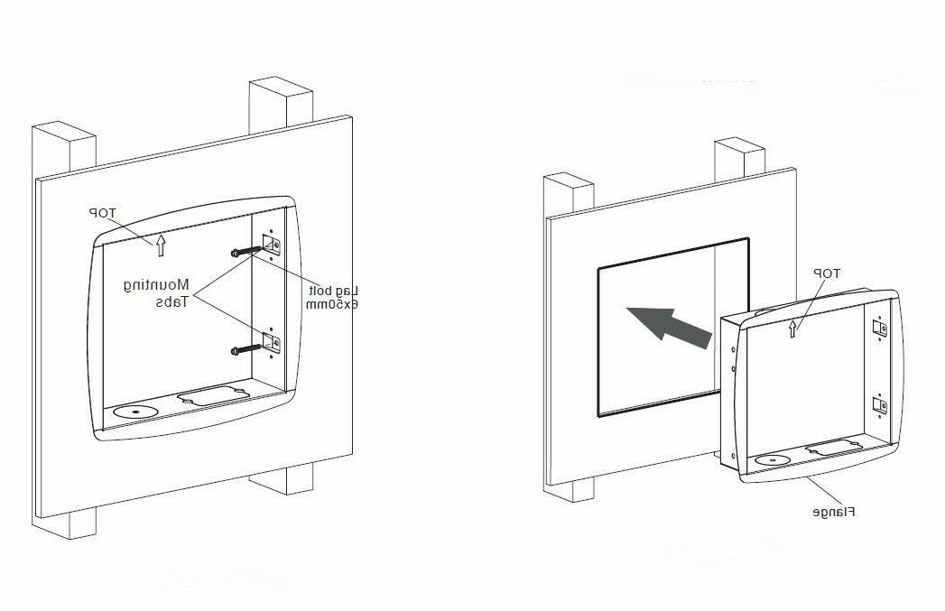 Recessed Flush In Wall box Arm Mount