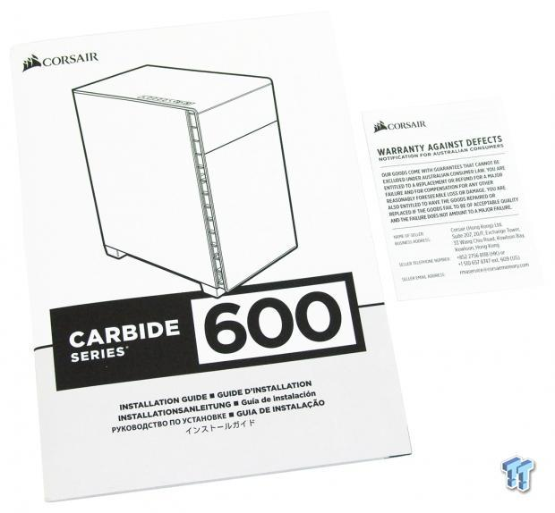 Corsair Carbide Clear 600C Inverse ATX Full-Tower Chassis