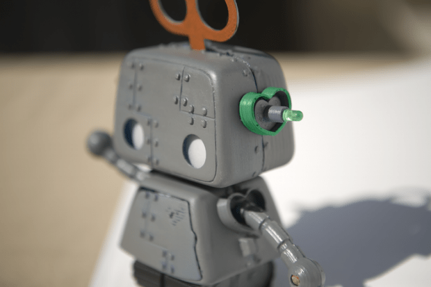 cute robot toy aims
