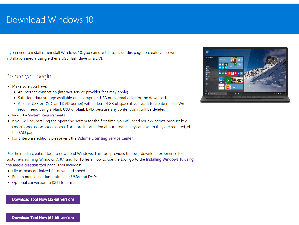 Download Windows 10 to a USB flash drive or ISO file with this link | TweakTown