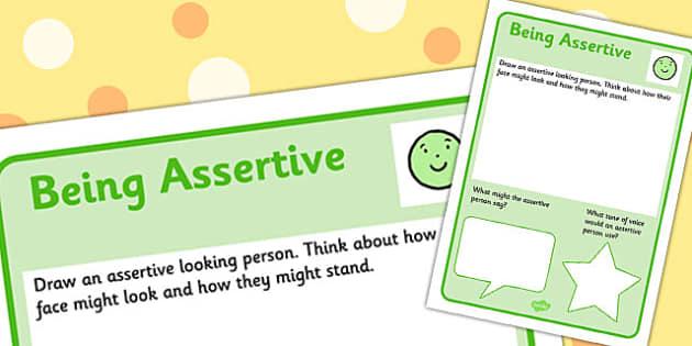 Assertive Worksheet - worksheets, confidence