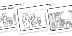 Goldilocks and the Three Bears Story Sequencing Cards with
