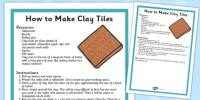 Step by Step Instructions: How to Make Clay Tiles - clay