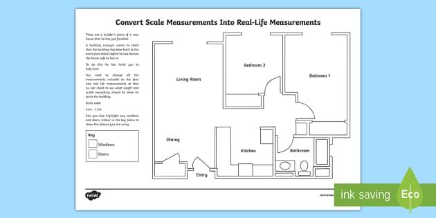 Convert Scale Measurements Into Real-Life Measurements: A