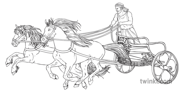 Ancient Greek Olympic Chariot with Horses History USA KS2