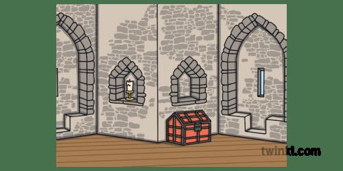 Background Castle Interior Ruler Medieval Building Fairy Tale Story KS1