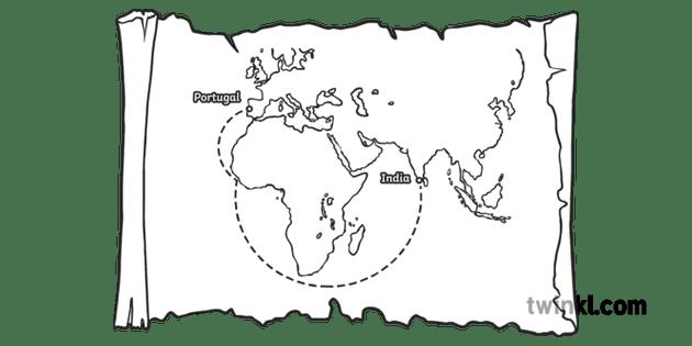 Christopher Columbus Route Plan Explorer Man History KS1