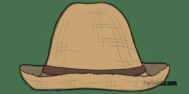 Farmer Straw Hat Ks1 Illustration Twinkl