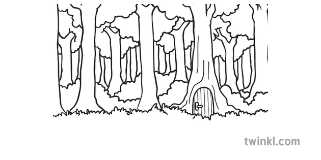 Forest Foxes Den Scene Background Fairy Tale Fox and Bear