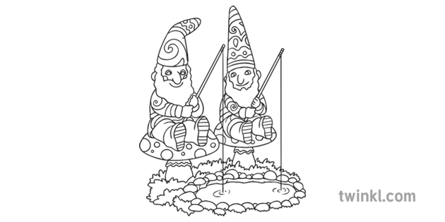 Gnome Mindfulness Colouring Mythical Creature Garden