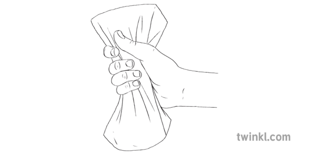 Hand Squeezing Dry Sponge Friction Science Physics Rubber