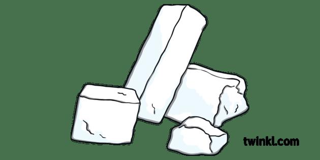 Ice Blocks Igloo House Building Material KS1 Illustration