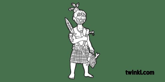 KS1 Tumatauenga New Zealand Creation Myth War Angry Face