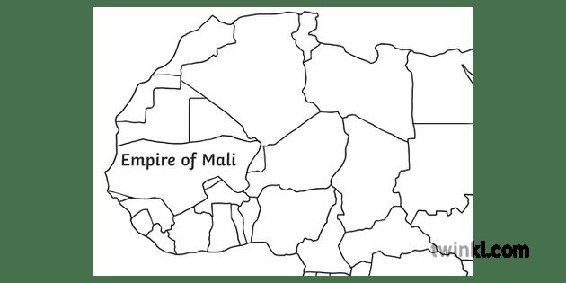 Kingdom of Mali Empire Size Map Africa Mansa Musa MPS KS2