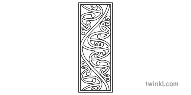 Kowhaiwhai Bookmark Pattern One Te Reo Maori Reading Book