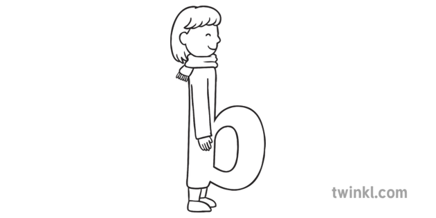 Letter B with Character with Belly Personalized Alphabet