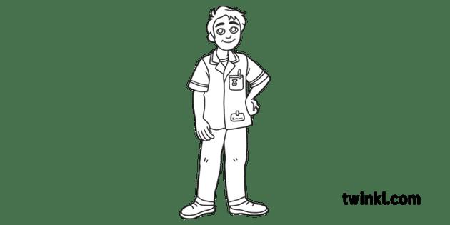 Male NHS Nurse Care Medical Hospital Key Worker Job Open