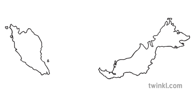Map Outline of Malaysia Country Shapes Flag Continents KS1
