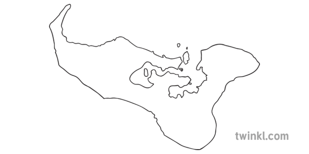 Map Outline of Tonga Country Shapes Flag Continents KS1