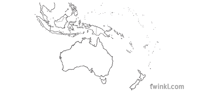 Map of Australia and Its Neighbouring Countries Geography