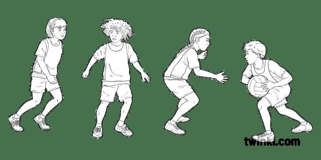 Marking Girl Boy Children Y6 Netball Twinkl Move KS2 Black