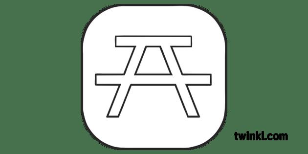 Picnic Area Orienteering Symbol Map Y3 OAA Twinkl Move PE