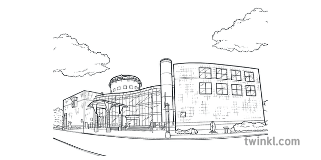 Questacon Colouring Page BW National Science and Tech