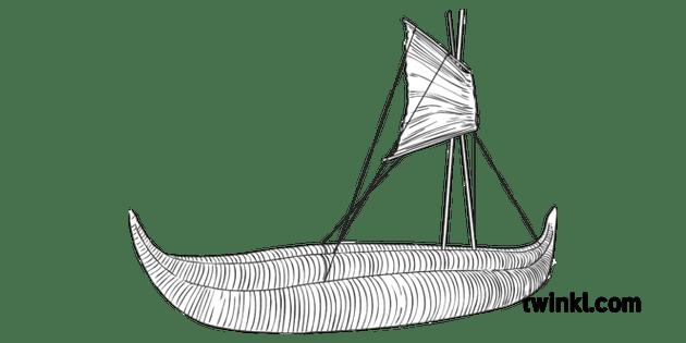 Reed Sail Boat Transport History Ancient Mesopotamia ROI