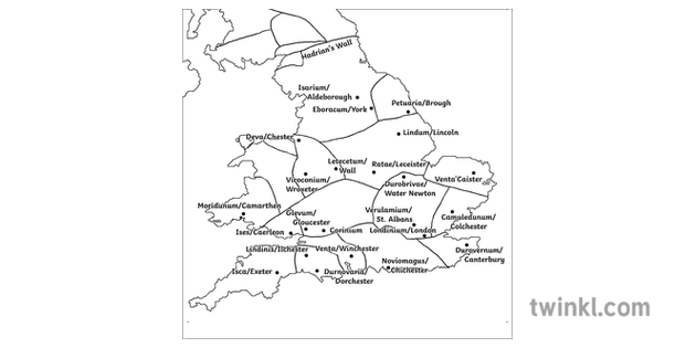 Roman Britain Map With Modern City Names Cartography