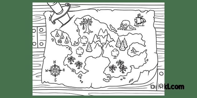Scene Map of Neverland Peter Pan Exterior Landscape Story