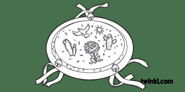 Tambourine White Paper Plate Cinco De Mayo Sombrero Craft