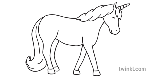 Two Unicorns Together Mythical Creatures Horse Colouring