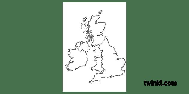 UK Map Blank Where We Live Location Topic Classic KS1