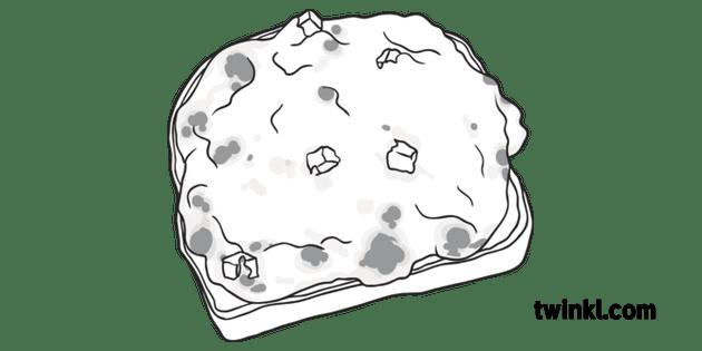 Welsh Rarebit Food British English Illustrated Map UK KS1