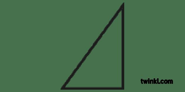 angle droit triangle noir et blanc