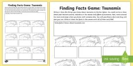 Tsunamis Research Writing Worksheet Worksheet