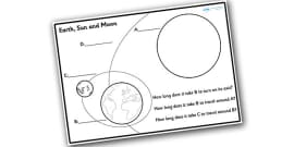 Earth, Sun and Moon Worksheet / Worksheet Pack