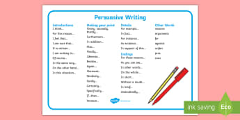 Persuasive Writing KS1 English Primary Resources