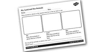 KS2 Science, Variation and Classification, Worksheets