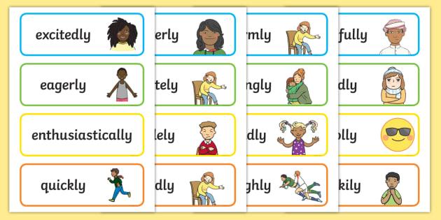 Adverb English Flashcards