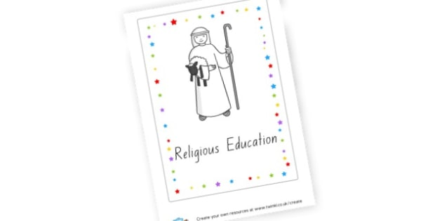 Religious Education Book Cover (teacher made)