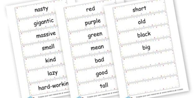 Simple adjectives (teacher made)
