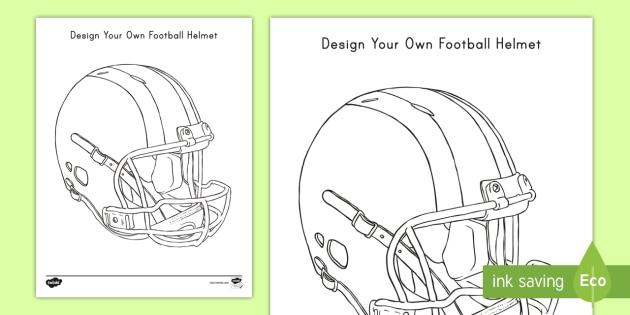 Design Your Own Football Helmet Activity Teacher Made